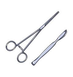 surgical instrumentsmedicine single icon in vector image