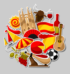 spain background design spanish traditional vector image