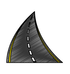 straight road isolated icon vector image