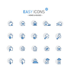 easy icons 02f home vector image