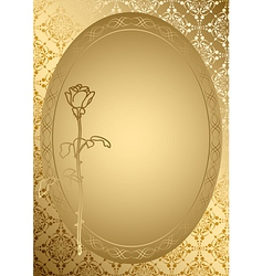 gold romantic card with golden ornament vector image