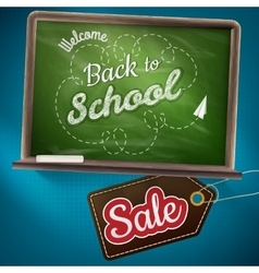Back to school sale EPS 10 vector image