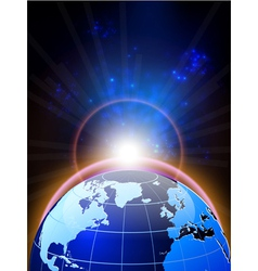 world and background vector image