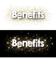 Benefits paper banners vector