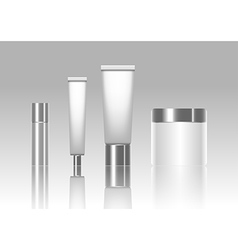 Blank cosmetic tubes isolated on background vector