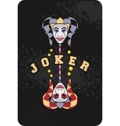 Joker mask on a stick vector