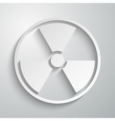 a radiation sign paper vector image