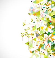 Abstract geometric template go green concept vector image vector image