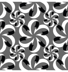 Abstract seamless pattern in black grey white vector image