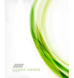 Business color swirl minimal design template vector image