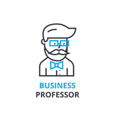 business professor concept outline icon linear vector image