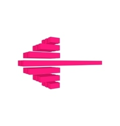 Contemporary pink arrow cartoon icon vector