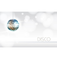 Disco background vector image vector image