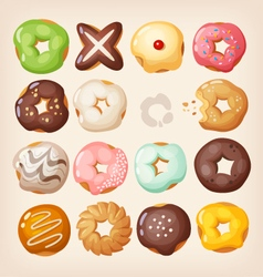 Doughnuts in a box vector
