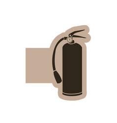 figure emblem extinguisher icon vector image