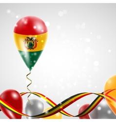 Flag of Bolivia on balloon vector image vector image