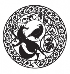foxampcrow vector image vector image