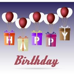 Happy birthday variations gift package soaring vector