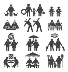 old people active lifestyle vector image