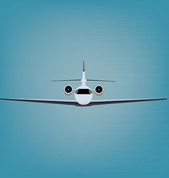 Private jet vector image