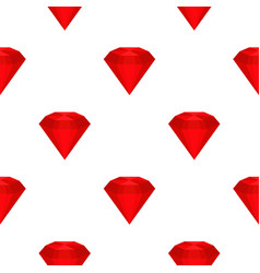 ruby pattern seamless vector image vector image
