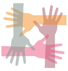 united hands vector image