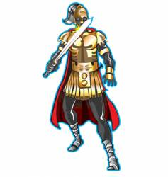 warrior vector image vector image