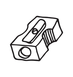Pencil sharpener icon vector
