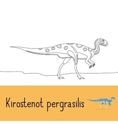 Coloring page with kirostenot pergrasilis dinosaur vector