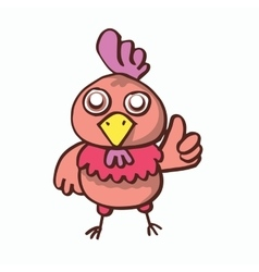 Cartoon chicken pose for t-shirt design vector