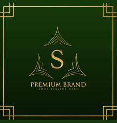 Letter s monogram logo concept in elegant style vector