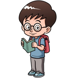 Boy go to school vector image