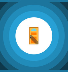 isolated entry flat icon exit element can vector image