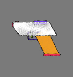 Flat shading style icon electric gun vector