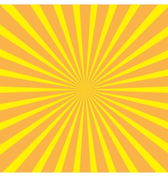 Sunburst with ray of light template yellow and ora vector