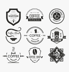 Coffee shop logo collection vector