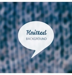 Knitted background vector