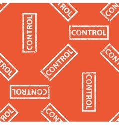 Orange control stamp pattern vector