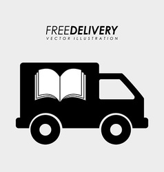 Delivery service books vector