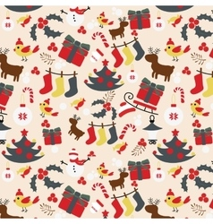 Seamless christmas traditional pattern new year vector