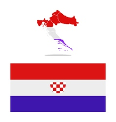 Croatia map with regions vector
