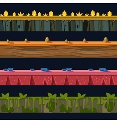 Different environments platformer level floor vector