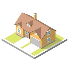 Isometric image of a private house vector