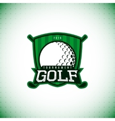 Label of golf championship vector