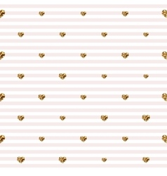 Abstract valentine s day hearts gold glittering vector