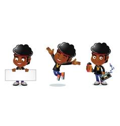 Afro guy 1 vector