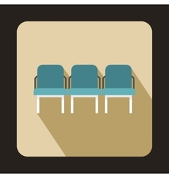 Background of hall at airport icon flat style vector image