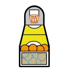 Basketball toy design vector