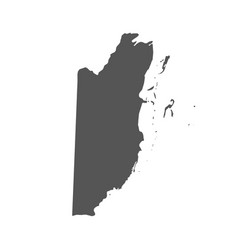 Belize map black icon on white background vector