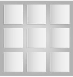 Blank empty magazine or book Mock up Nine vector image